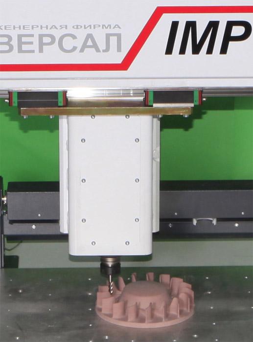 Обработка детали из модельного пластика на станке IMPULS RTM-3.